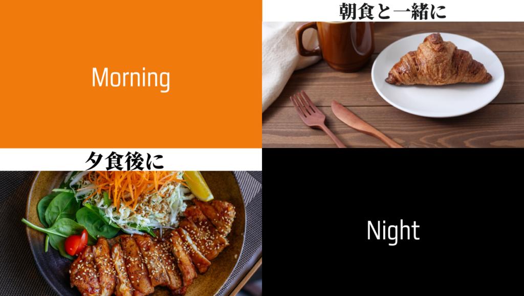 朝食、ブレイクファスト、夕食、ディナー、食後